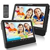 WONNIE 10' Auto DVD Player 2 Monitore Auto Tragbarer DVD Player Kopfstütze Fernseher 2 Bildschirm...