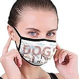 NB Hundeposter für Erwachsene, Unisex, waschbar, wiederverwendbar, Polyester, Anti-Staub, in...