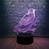 3D Led Lampe Vogel Zweige Dekoration Atmosphäre Nachtlicht Schreibtisch Tisch 7 Farbwechsel Lava...