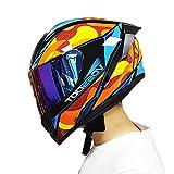 Super-ZS Motocross-Helm, Anti-Fog-Farbspiegel Profi-Rallye-Motorrad Gelbschaum-Helm Mit Abnehmbarem Und Abwaschbarem Rennhelm Für Erwachsene
