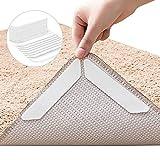 VEGCOO Teppich Antirutschunterlage 24 Stück Antirutschmatte Anti-Curling Rug Gripper Teppichunterlage Doppelseitige Washable Wiederverwendbar Teppich Aufkleber Starke Klebrigkeit