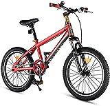 CDFC Kinder-Mountainbikes, High-Carbon Steel Hardtail Anti-Rutsch-Fahrrad, Doppelscheibenbremse...