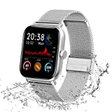 Lucky-M Smart Watch, 3,8 cm (1,54 Zoll) Full Touch Screen Smartwatch für iOS Android, Fitness...