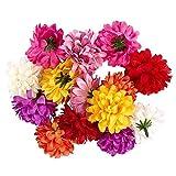 Ideen mit Herz Deko-Blüten, Kunstblumen, Blüten-Köpfe, Verschiedene Sorten, ca. Ø 4-5 cm (Dahlie...