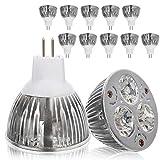 cuckoo-X 10PCS 9W LED Glühlampen, Lampenschale warmes Weiß MR16, energiesparende LED Lampen