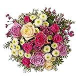 """Kölle Blumenstrauß """"Liebe meines Lebens"""" - Ø 30 cm - rosa und weiße Rosen, Chrysanthemen,..."""