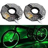 FeiXing158 Nachtreitlichter 1/2 Stück wiederaufladbare LED RGB Bunte Fahrrad-Radnaben-Licht...