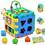 WISHTIME Baby Spielzeug musikalisches Spielzeug Schaukelspielzeug Musikwürfel für Früherziehung...
