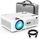 QKK 4500 Lumen Beamer mit Tragetasche unterstützt 1080P Full HD, Native 720P HD Video Beamer...