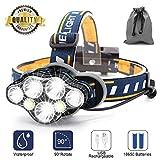 Stirnlampe,7 LED 17000 Lumen Kopflampe,Superheller USB Wiederaufladbare Wasserdicht Leichtgewichts...