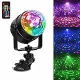 USB Wiederaufladbar Partylicht LED Discokugel Partybeleuchtung, Stimmungslicht 7 Modi Disco...
