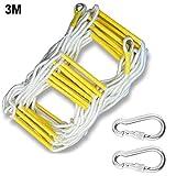 chlius Notfallleiter, 3 m / 5 m, Nylon, Sicherheits-Seil mit Haken, für Heimklettern,...