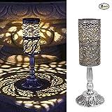 2 Stück, Solarleuchten Retro Kerzenständer Solar Tischlampe für den Innenbereich im Freien antike...