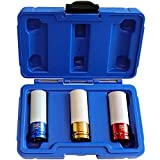 S&R Kraft-Schoneinsätze 1/2' (12,5mm) Chrom-MOLYBDÄN Stecknüsse 3-teilig: 17-19 - 21 mm;...