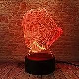 Baseballhandschuh Nachtlicht Led 3D Optische Täuschung Touch Control Light 16 Farben Ändern...