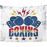 CC Decoration Wall Hanging Tapestry,Fight Vintage Sport Für Boxhandschuhe Und Stars Champions...