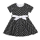 Honestyi BabyBekleidung Mädchen Kleider Kleinkind Baby Kinder Retro Rockabilly Gepunktet...