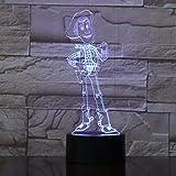 Remote 3D Illusion Led Lampe 7 Bunte Touch Nachtlicht Schreibtischlampe Cartoon Anime Toys Für Kind...