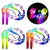 Danolt 3 Pcs Glowing Springseil Kinder, 2 in 1 Fitness Springseil Leuchten Spielzeug Glow in Dark...
