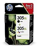 HP 305XL Multipack Original Druckerpatronen mit hoher Reichweite (Schwarz, Farbe) für HP DeskJet, HP DeskJet Plus, HP ENVY, HP ENVY Pro