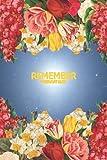 Remember Passwort Buch: Passwort Manager Organizer mit Alphabetischem Register A - Z / Notizbuch Blumenmuster für Mädchen und Frauen für die Verwaltung von Zugangsdaten / Platz für 428 Passwörter