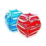 Justdolife 2PCS Bumper Ball lustige aufblasbare tragbare Körper Stoßstange Bubble Ball für...