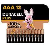 Duracell NEU Plus AAA Micro Alkaline-Batterien, 1.5V LR03 MN2400, 12er-Pack