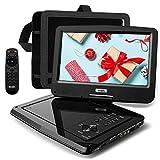 SUNPIN Tragbarer DVD-Player Auto mit 10,5 Zoll HD Schwenkbaren Bildschirm,...