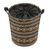 ELIENONO Wäschesack,Geometrisch Indigene Borderline Chevron Altmodischer Eingeborener,Großer faltbarer Wäschekorb,zusammenklappbarer Wäschekorb,zusammenklappbarer Waschvorratsbehälter