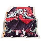 Showkig Drucken Plüsch Bedspread Bed Blankets D Cartoons Wurf: Hatsune Miku Decken-Sofa-Bett Decke...