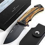 BERGKVIST® K29 Titanium Klappmesser (Einhandmesser) - 3-in-1 Outdoor Messer mit Glasbrecher und Gurtschneider - ausgezeichnet mit dem Bronze A' Design Award 2021