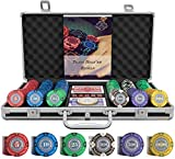 Bullets Playing Cards - Designer Pokerkoffer Tony Deluxe Pokerset mit 300 Clay Pokerchips,...