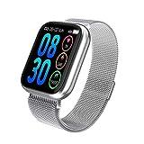 ZCC Exquisite Damen-Smartwatch, wasserdicht, Herzfrequenz, Blutdruckmessung, Schrittzähler, für...