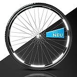 Blackshell® Reflektoren Aufkleber - 100% passgenaues 42 teiliges Fahrrad Aufkleber Set für 27,5 28 und 29 Zoll Felgen - Fahrrad Felgen Aufkleber, Reflektoren Fahrrad in schwarz