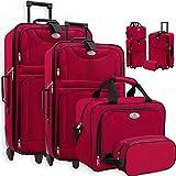 KESSER 4tlg Trolley Kofferset   Reisekoffer Set mit Rollen   Komplettes Business 4er Set   S M L XL...