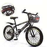 Unisex Single Speed Mountain Bike 18 Zoll 20 Zoll 22 Zoll High-Carbon Stahl Studenten Kind...