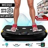 Messe-Neuheit 2020! 4D Vibrationsplatte VP400 im Curved Design + Trainings-Videos, Color Touch...