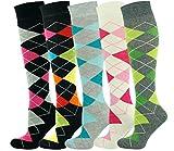 Mysocks Unisex Kniestrümpfe Argyle Socken Mehrfachverpackung 705