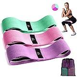 CFX Resistance Hip Bands, Fitnessbänder Set Yogagurt in 3 Zugkraftstärken Trainingsband Yogaband...