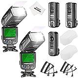 Neewer NW620 Manueller Blitz Speedlite Set für Canon Nikon Panasonic Olympus Pentax und andere DSLR...
