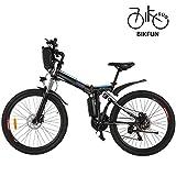 BIKFUN Elektrofahrrad, 20/26 Zoll E-Bike, Lithium-Akku (26 Abenteuer-schwarz)
