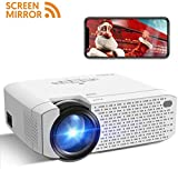 Beamer Wifi, Crosstour Mini LED Screen Mirror Full HD Wireless Projektor Unterstützung Tragbares...