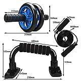 WOAICYH Muskel-Übungsgerät Bauchmuskel-Push-Roller, Heim-Fitness-Ausrüstung, Gym-Trainer mit...