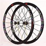 CHP Fahrrad Wheelset 700c Racing Straßen-Fahrrad Bunte Version Legierung Double Wall Rim 40mm 8-11...