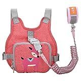 Kinder Sicherheitsleine, Kinder Leine Handgelenk, Anti-verloren Gürtel Handgelenk Rucksack (Rosa)