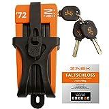 Z:NEX Fahrradschloss/Faltschloss/Gliederschloss mit hoher Sicherheitsstufe/Speziell gehärteter...