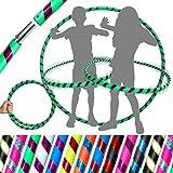 Pro KIDS HULA HOOP Reifen für Kleine Erwachsene und Kinder (10 Farben Ultra-Grip/Glitter Deco)...