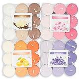 72 Teelichter 4x18 Stück Lavendel Rose Vanille Orange Duftkerzen Deko Kerzen Aroma Duft