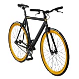 bonvelo Singlespeed Fixie Fahrrad Blizz Heart of Gold (Large / 56cm für Körpergrößen von 170cm...