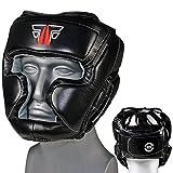 FOX-FIGHT MMA Kopfschutz Boxen Muay Thai Kikboxen Kopfschoner S/M - schwarz/Weiss